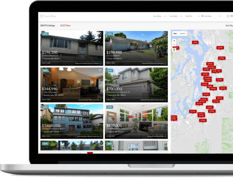 Searching for new properties on laptop   Woodbridge Real estate pullman wa